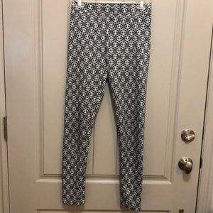 Bethany Mota Black Print Leggings (S)